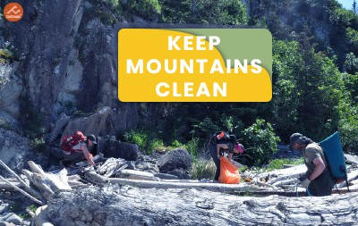 Dispose the Waste Wisely: Keeping the Mountains Clean is Wiser