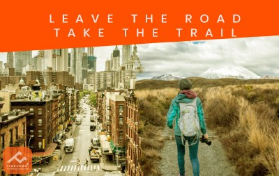 Leave the busy road, take the trail