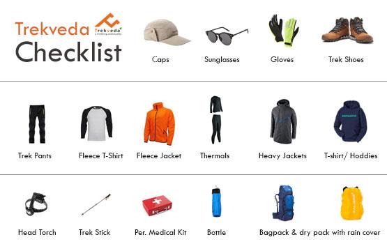 Trekveda Pretrip Checklist